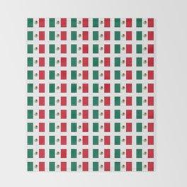 Flag of mexico 3 - mexico,mexico city,mexicano,mexicana,latine,peso,spain,Guadalajara,Monterrey Throw Blanket
