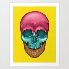 Skull Icecream Art Print