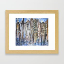 Coffee-Stained Nights Framed Art Print