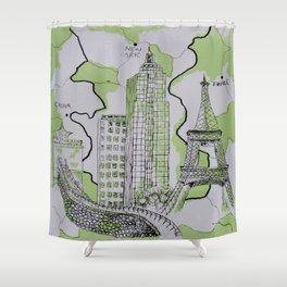 The World Traveler Shower Curtain