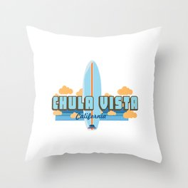 Chula Vista - California. Throw Pillow