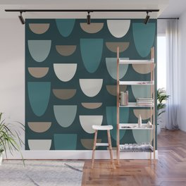 Turquoise Bowls Wall Mural