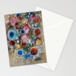"""ABUNDANT NATURE"" is an Original Mixed Media Painting by Artist - Doreen Koch Allen Stationery Cards"