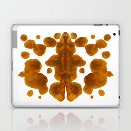 Brown Ocher Inkblot Pattern Laptop & iPad Skin