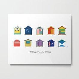 Melbourne beach, Australia (pattern) Metal Print