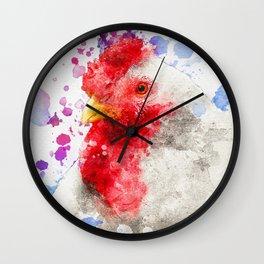 Watercolor Chicken, Chicken Painting, Chicken Decor, Chicken Art, Chicken Design, Hen Wall Clock