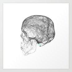 skull trails black Art Print