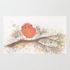 Birds in Music Rug