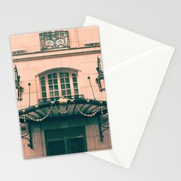 Paris luxury facades Stationery Cards