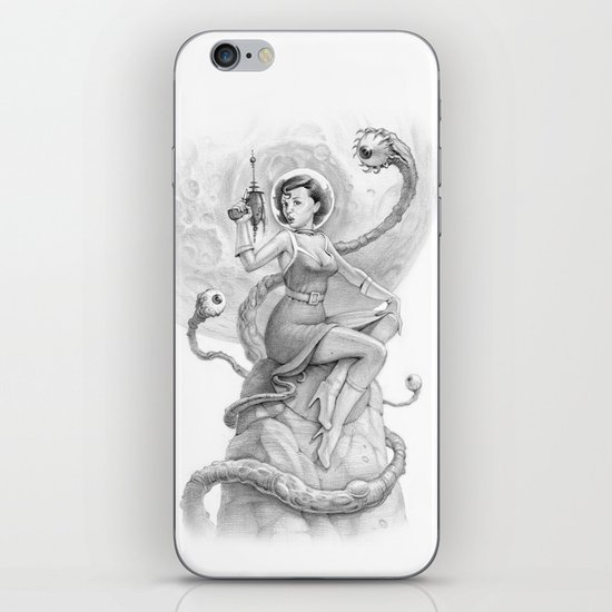 Astro Babe B&W iPhone & iPod Skin
