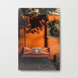 Crime Stoppers' Bench Metal Print