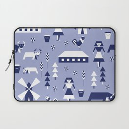 Farm. Seamless pattern. Laptop Sleeve