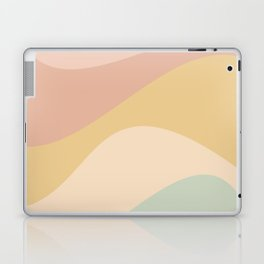 Abstract Color Waves - Neutral Pastel Laptop & iPad Skin
