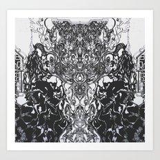 Mad Eyes  Art Print