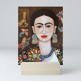 Frida thoughts Mini Art Print