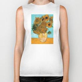Vincent van Gogh - Still Life Vase with Twelve Sunflowers Biker Tank