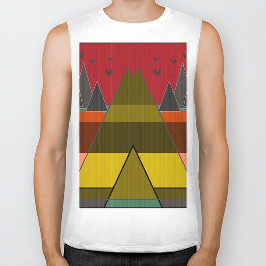 Abstract pattern . Mountains. Biker Tank