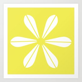 LOTUS MINIMAL - Vanilla cream. Art Print