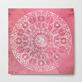 Rosette Window - Carnation Metal Print