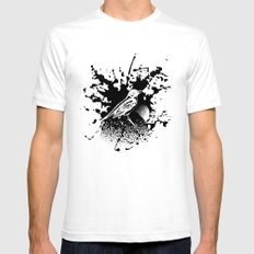Bird Gard White SMALL Mens Fitted Tee