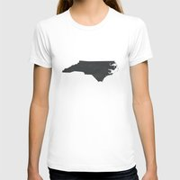 north carolina T-shirts featuring North Carolina  by TheRileyHouse