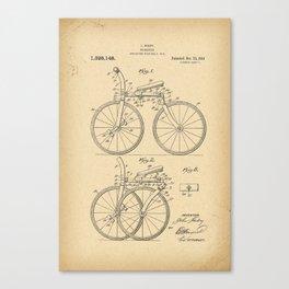 1919 Patent folding Bicycle Canvas Print