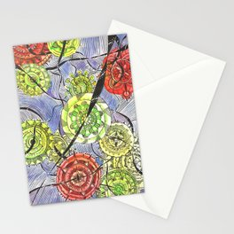Black Ribbons Stationery Cards