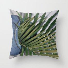 Spilling Green  Throw Pillow