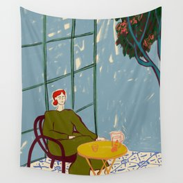 WOMAN UNDER A TREE Wall Tapestry