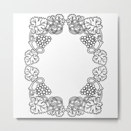 Abstract floral frame Metal Print