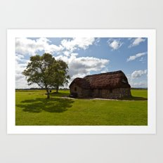 Leanach Cottage Art Print