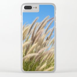 Foxtails on a Hill Clear iPhone Case