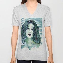 Maybe I'm A Mermaid (Tori Amos inspired art) Unisex V-Neck