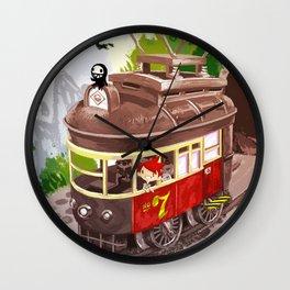 Travel By Trolly Wall Clock