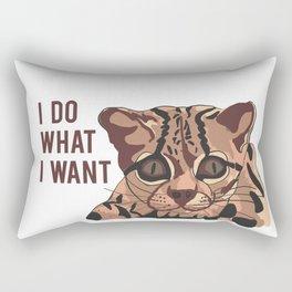 cat quote Rectangular Pillow