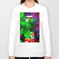 stormtrooper Long Sleeve T-shirts featuring Stormtrooper   by Saundra Myles