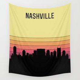 Nashville Skyline Wall Tapestry