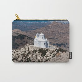 Lonely church in Greek mountains Carry-All Pouch