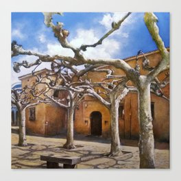 Plaza Viriato-Zamora Canvas Print
