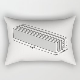 Life is short but deep Rectangular Pillow
