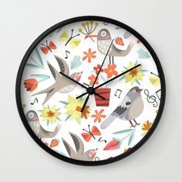 Spring Songs Wall Clock