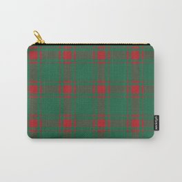 Minimalist Middleton Tartan in Red + Green Carry-All Pouch