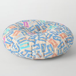 NUDE BEACH, by Frank-Joseph Floor Pillow