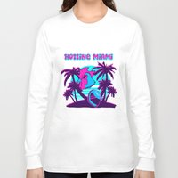 hotline miami Long Sleeve T-shirts featuring Hotline Miami  by noxioussomnium
