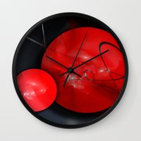 gym Wall Clocks featuring Gym Balls by Digital-Art