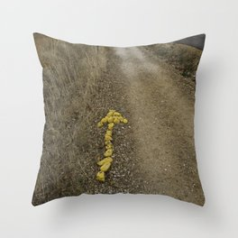 Yellow Arrow of the Camino Throw Pillow