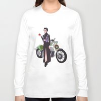 evil queen Long Sleeve T-shirts featuring Evil Queen by Dixie Leota