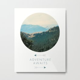 Adventure Awaits, Adventure Awaits Art Print, Inspirational Quote, Minimalist Decor, Fun, Typography Art Print, Positivity Art Print, Motivational Quote, Motivational Art, Positivity Art Print, Nature, Minimalist Metal Print