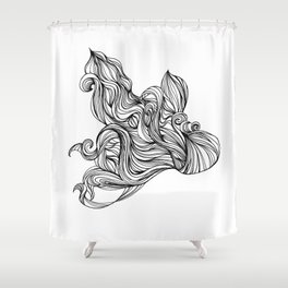 Mortal remains 2013 Ink on Paper Shower Curtain
