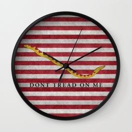 First Navy Jack flag of the USA, vintage Wall Clock